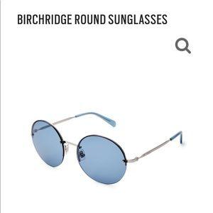 Birch ridge round sunglasses blue lens, UV